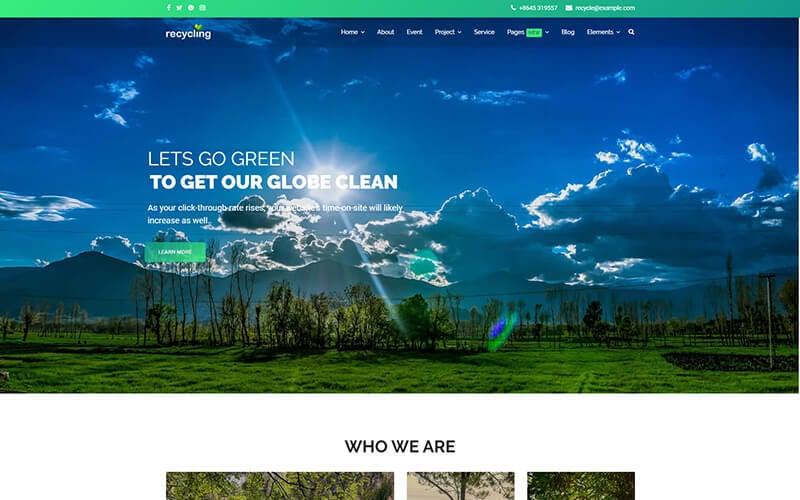 Recyclage - Modèle Joomla à but non lucratif / environnemental