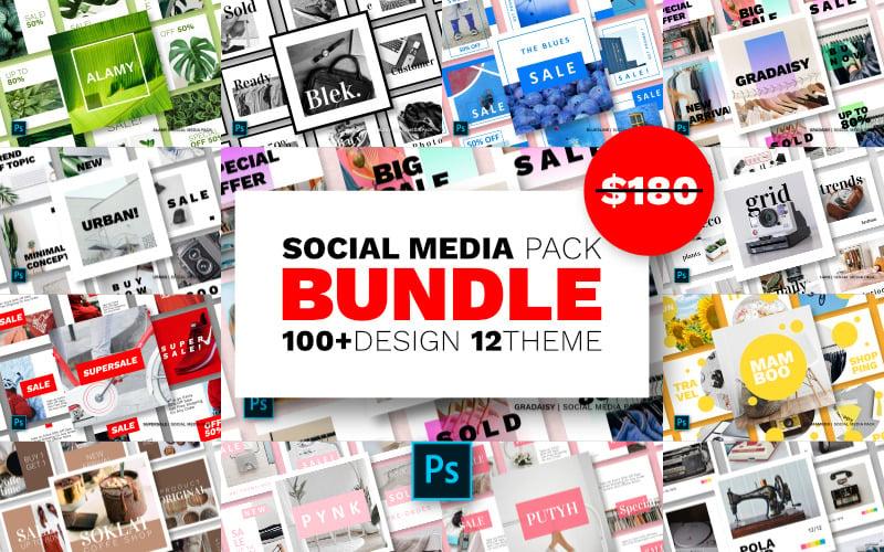 Шаблон для социальных сетей Instagram Design Bundle