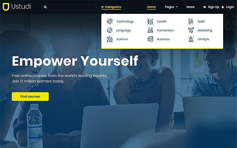 Ustudi - Tema de WordPress para cursos en línea para educación y universidad