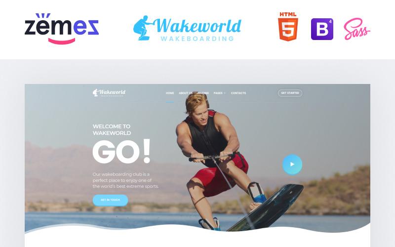 Wakeworld - Modèle de site Web HTML créatif multipage de navigation