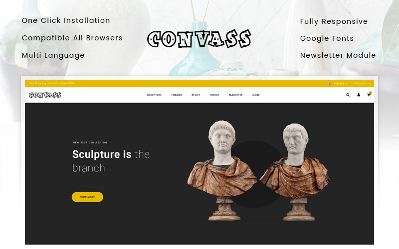 Convass - Art Gallery Store OpenCart Template