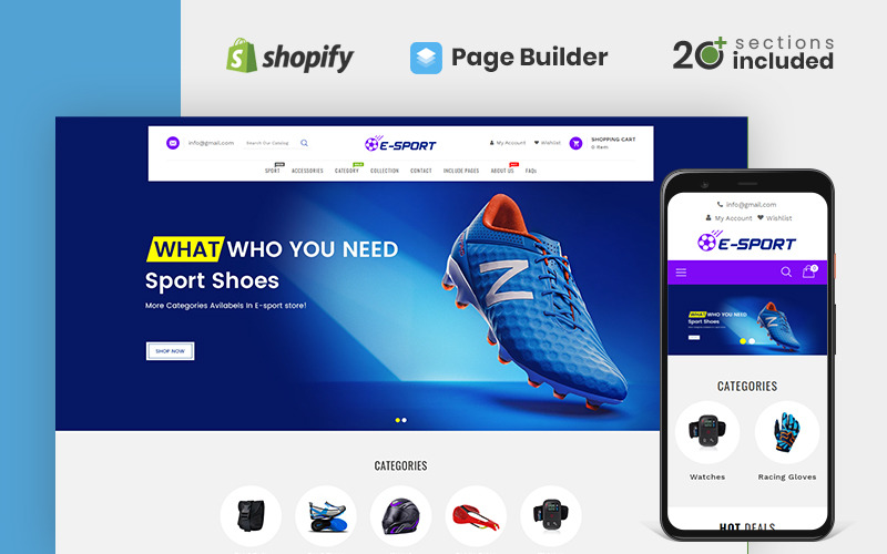 Esport Sports Store Shopify Theme