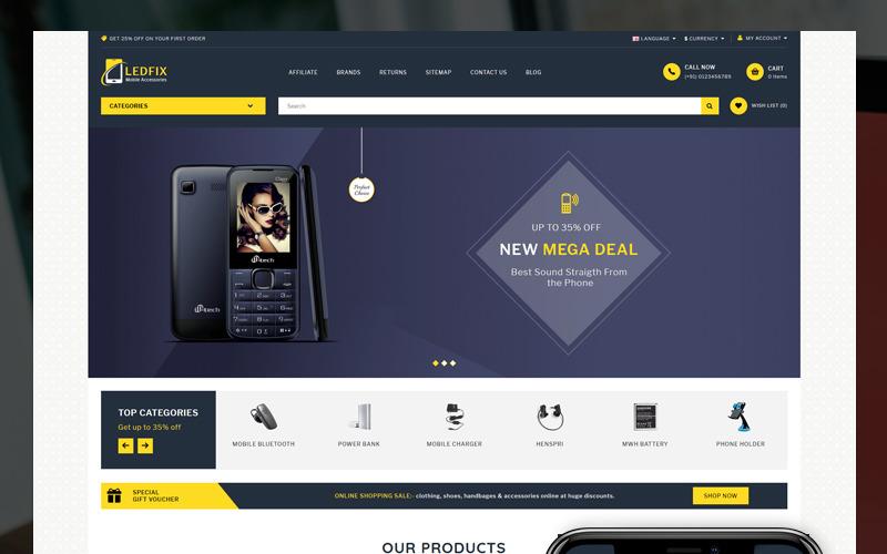 Szablon Ledfix Mobile Store OpenCart