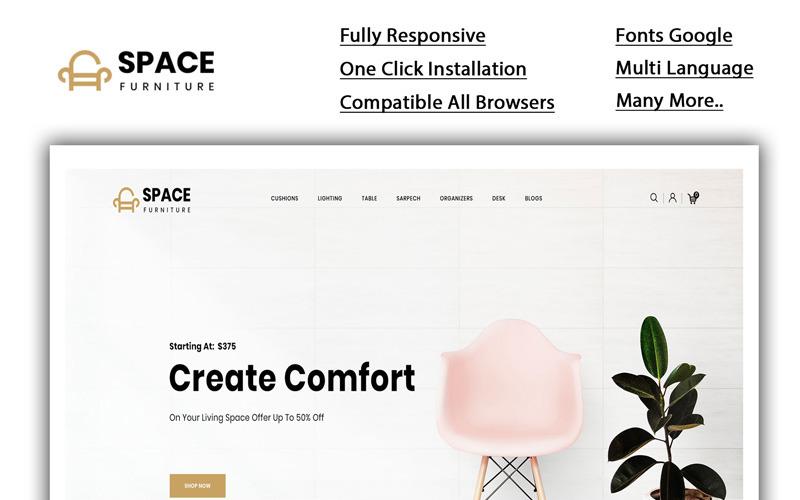 Espace - Modèle OpenCart de la boutique de meubles