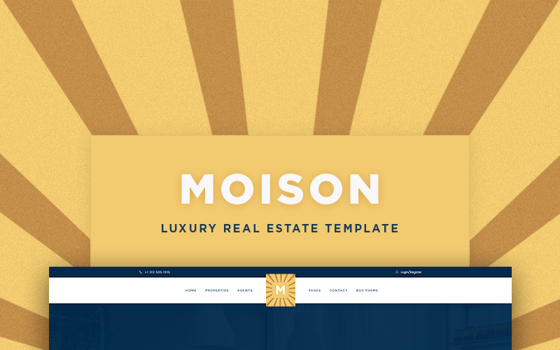Tema de WordPress de lujo de Moison Real Estate