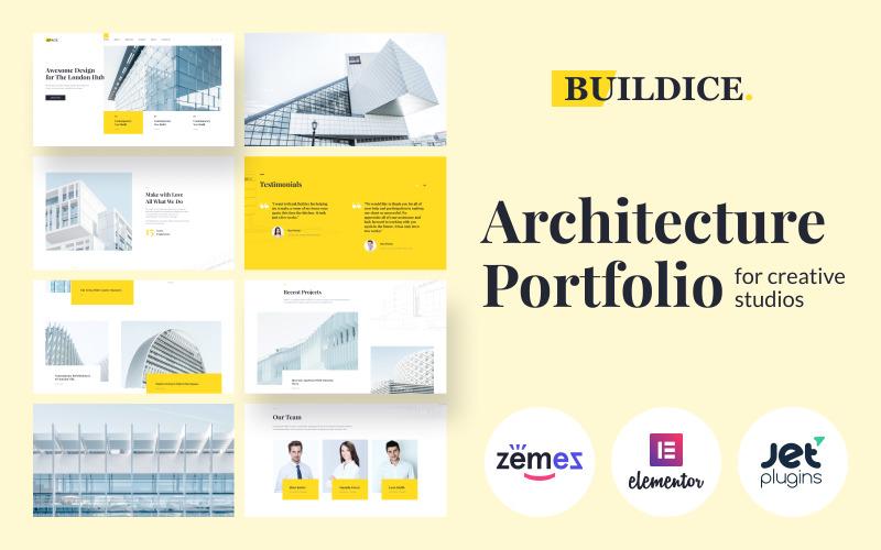 Buildice - Architecture portfolio  for creative studios WordPress Theme