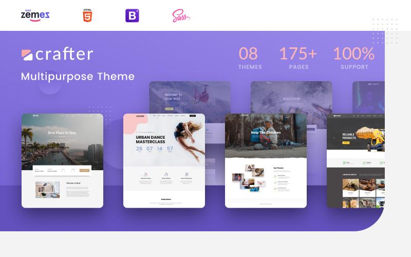 Crafter - Многоцелевой современный шаблон веб-сайта Bootstrap 4