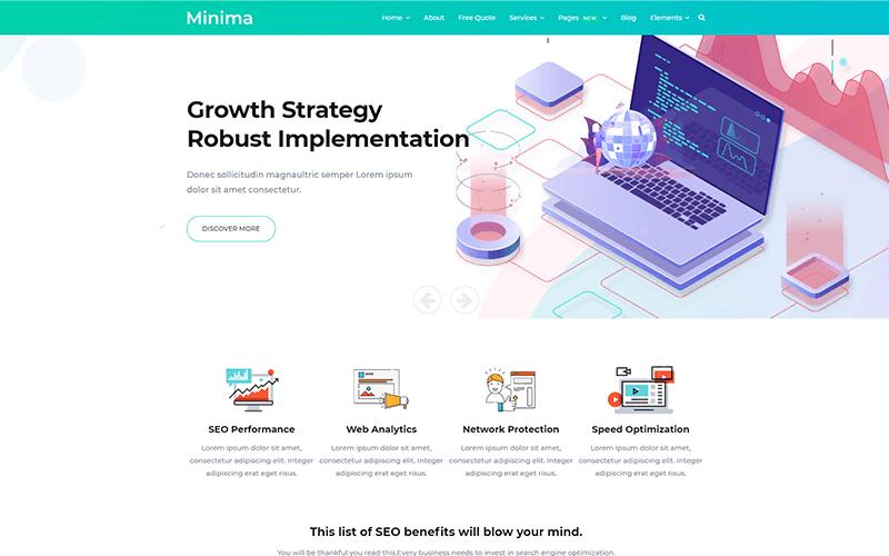 Minima - Шаблон Joomla для цифрового и интернет-маркетинга