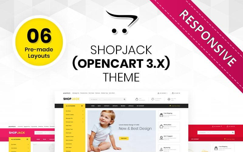 Shopjack - Mega Multishop responsywny szablon OpenCart