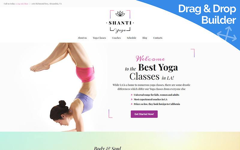 Shanti - Yoga Club Moto CMS 3 Template
