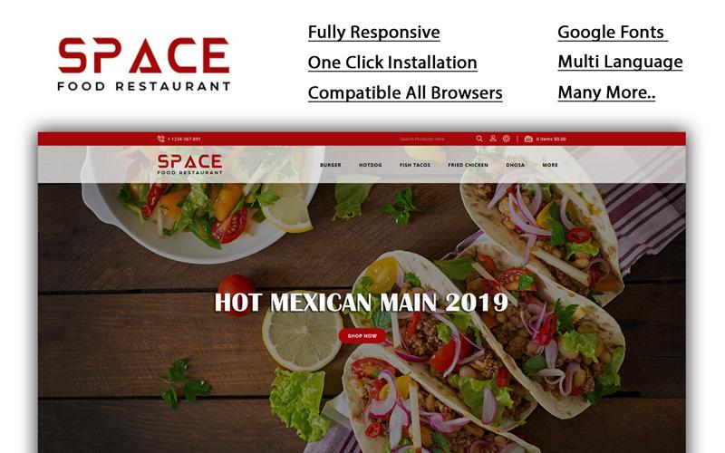 Spazio - Modello OpenCart del ristorante di cibo