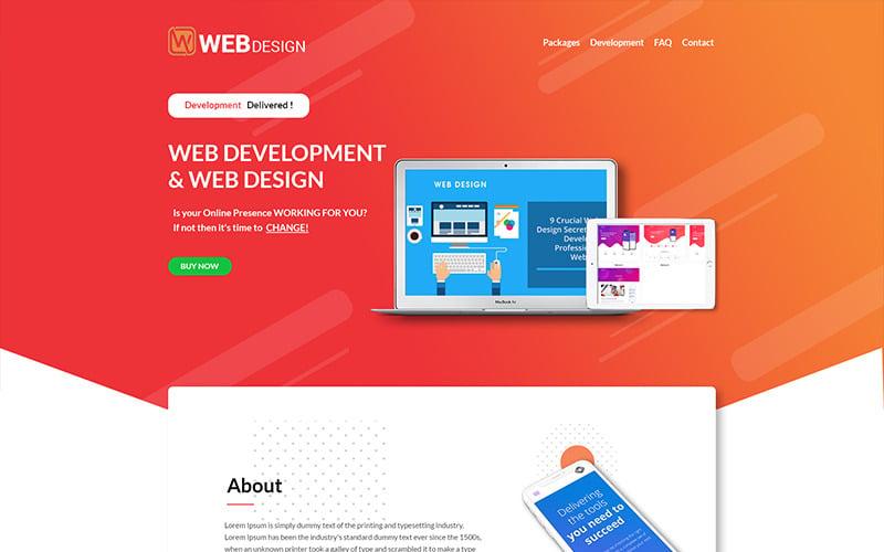 W Web Design - Web Design Company PSD Template