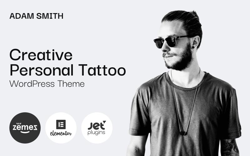 Adam Smith - Motyw Creative Personal Tattoo Pro WordPress
