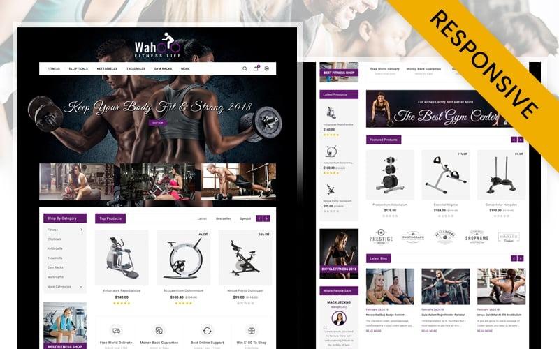 Fitness Life - OpenCart шаблон магазина спортивного оборудования