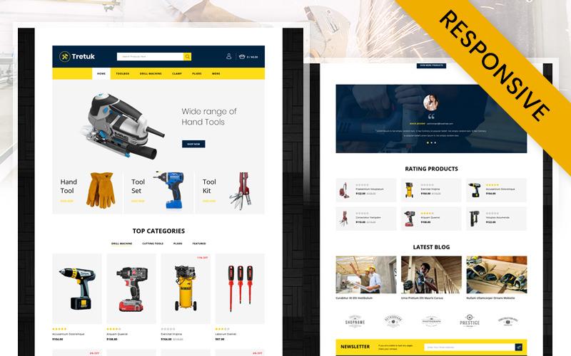Tretuk - Best Tools Store OpenCart Template