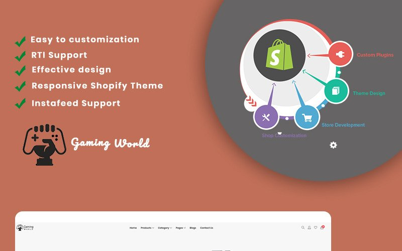 Wekia- The Gaming Shopify Theme
