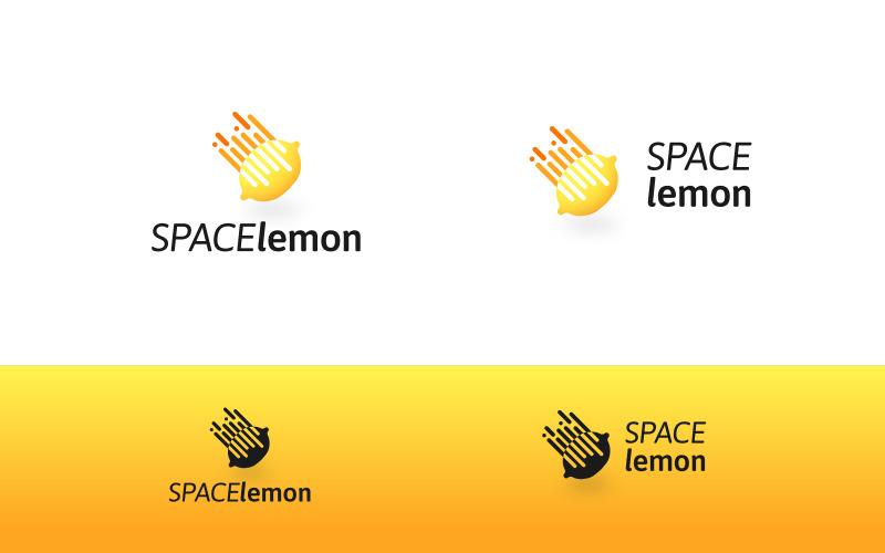 Místo citron Logo šablona