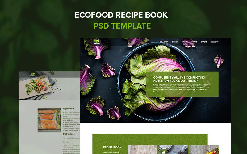 Екопродукти - книга рецептів PSD шаблон