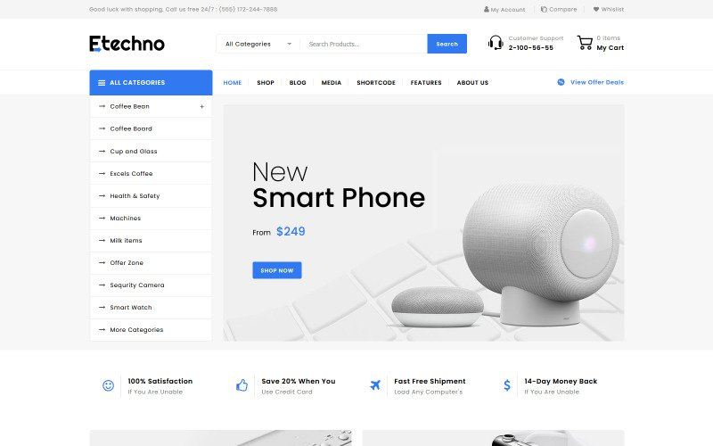 Etechno - Elektronikus többcélú WooCommerce téma
