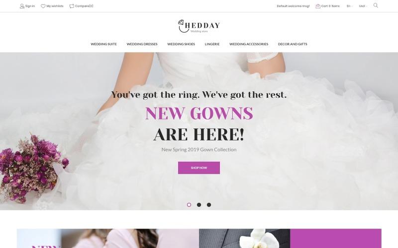 Hedday- Esküvőre reagáló sablon PrestaShop téma
