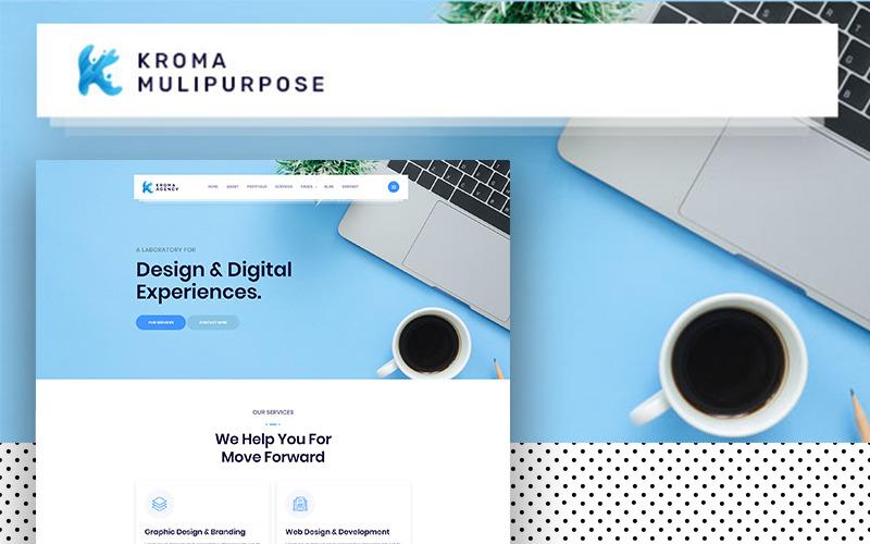Kroma | Plantilla creativa de sitio web de Bootstrap multipropósito