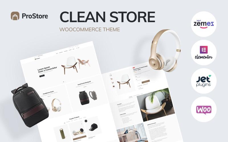 ProStore - modelo de loja limpo para WooCommerce com Elementor