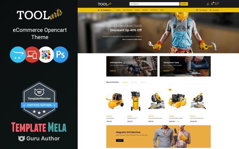 Tools Arts - Modèle OpenCart de Power Tools Store