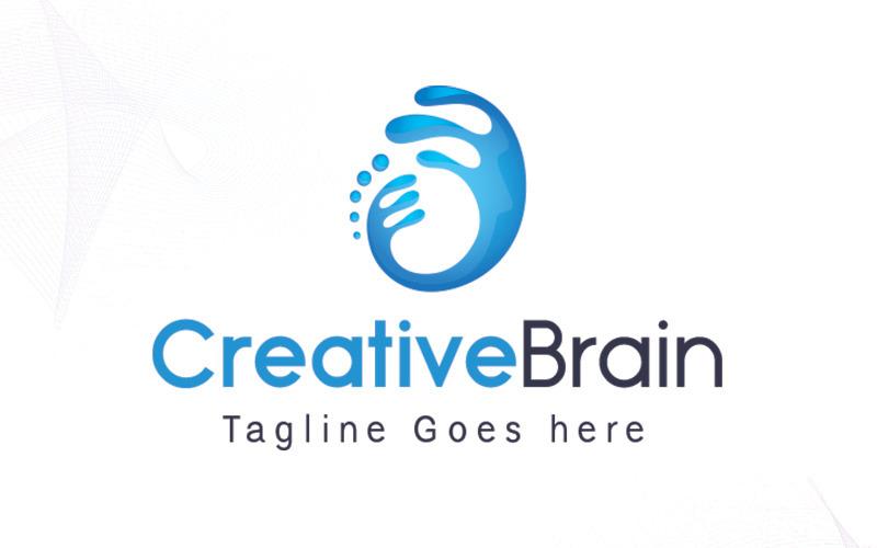 Шаблон логотипа CreativeBrain