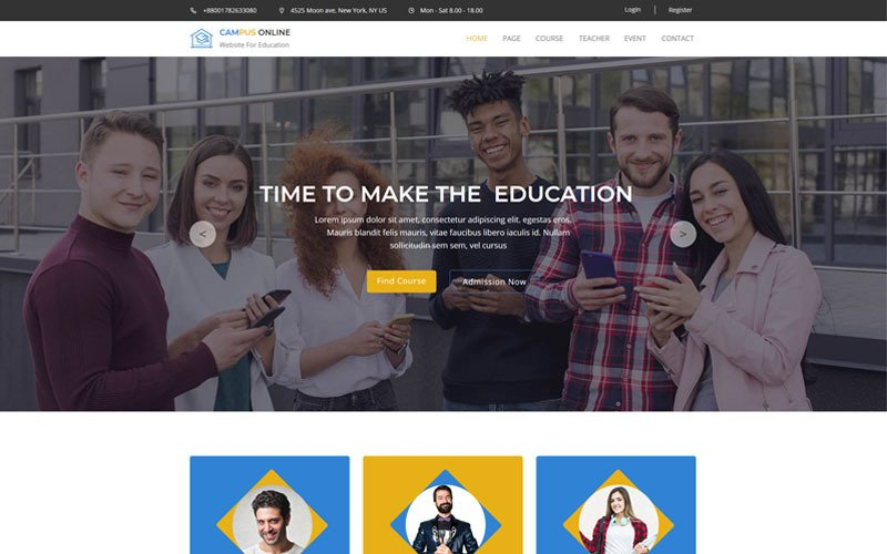 Campus-Education & Course Muse Template