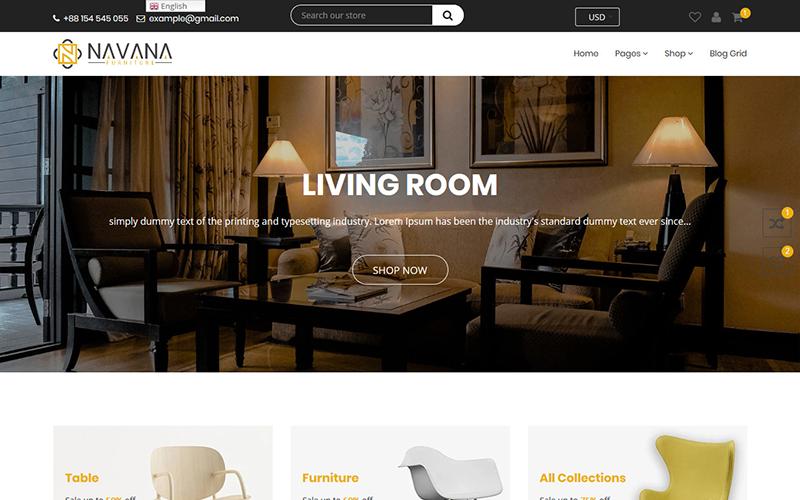 Navana Furniture - Interior Shopify Teması