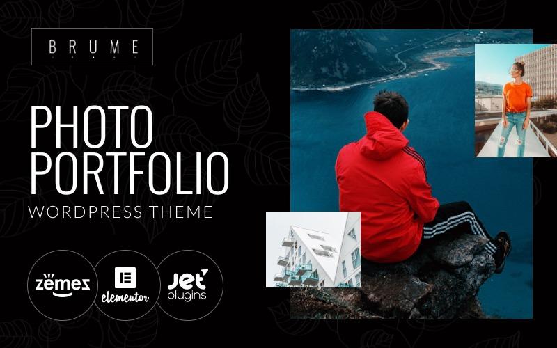 Brume - fotografické portfolio s tématem WordPress od Elementor Builder