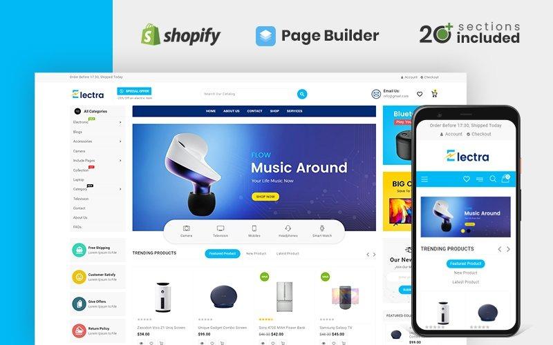 Electra Electronics Store Shopify-thema
