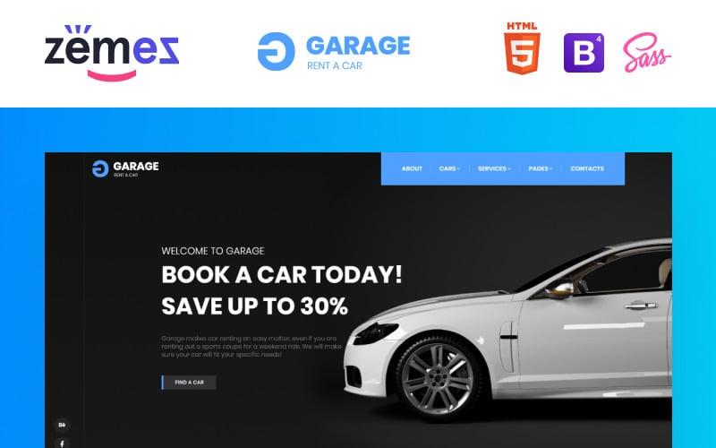Garage - Car Rental Classic Responsive Website Template