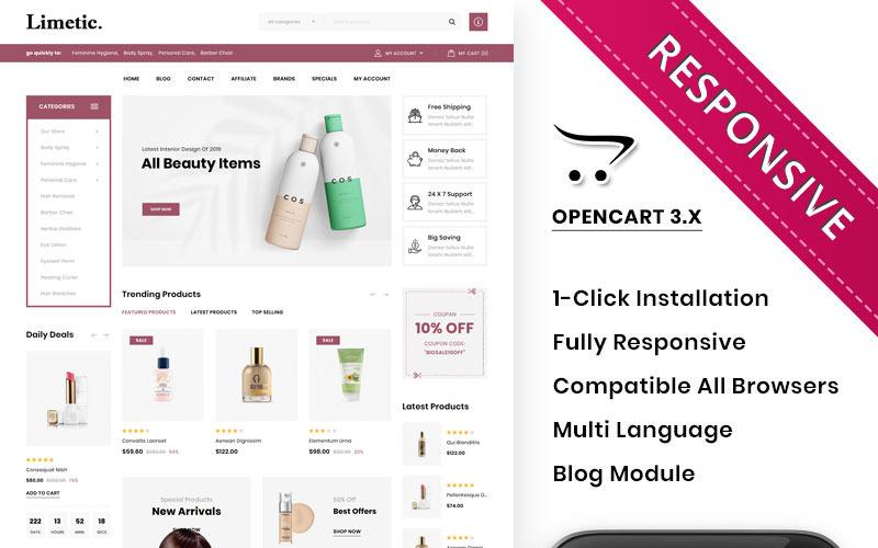 Limetic - Kozmetik Mağazası OpenCart Şablonu