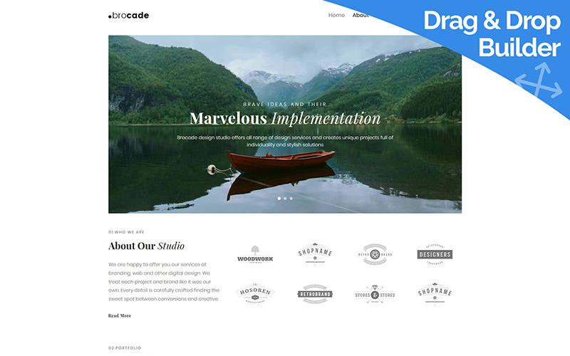 Brocade - Design Studio Moto CMS 3 Template