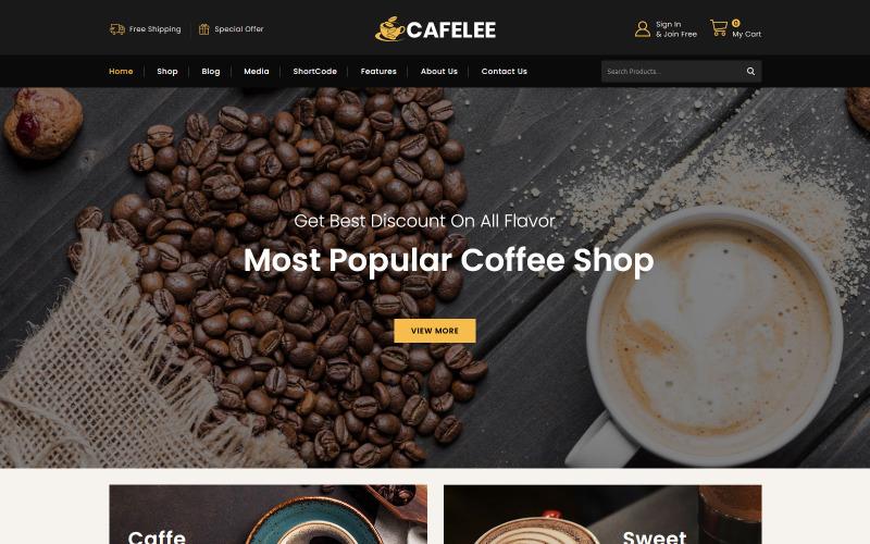 Cafelee - Élelmiszer- és éttermi bolt WooCommerce téma