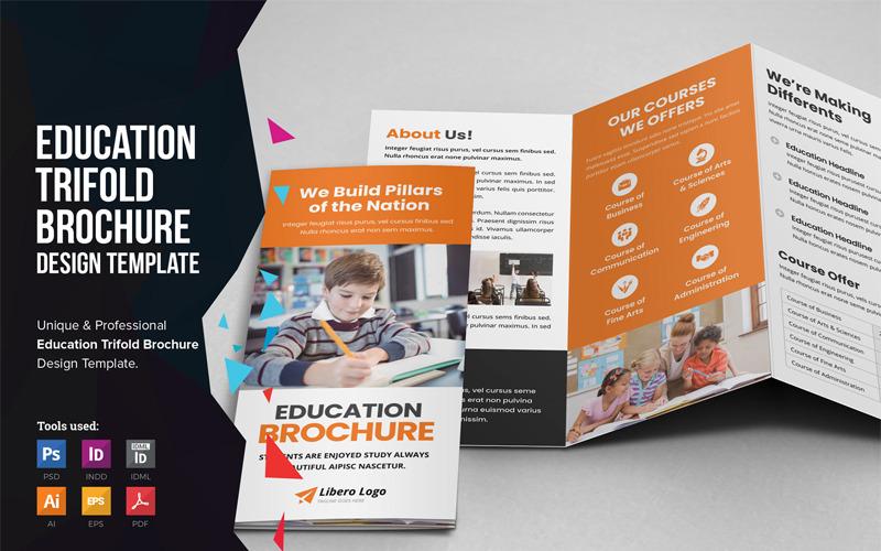 Emodo - Education School Trifold Brochure - Corporate Identity Template