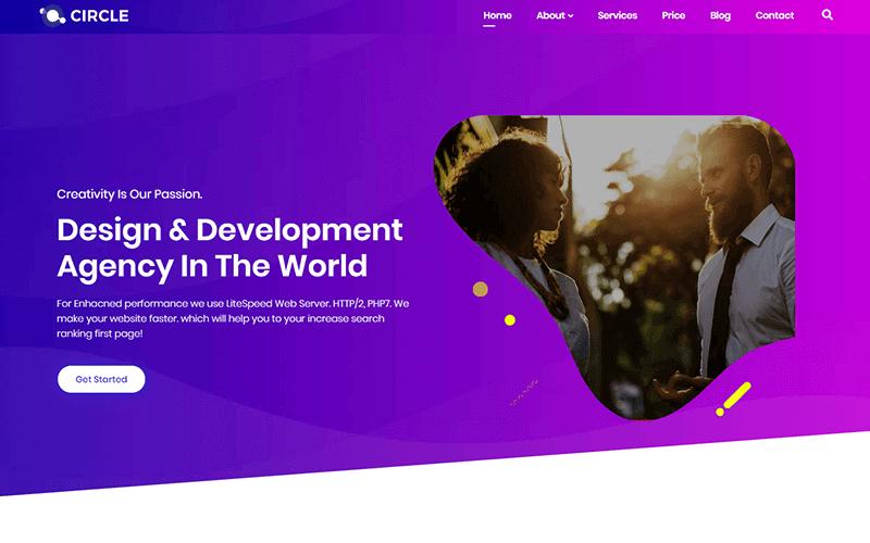 Circle - motyw WordPress dla agencji wielofunkcyjnych