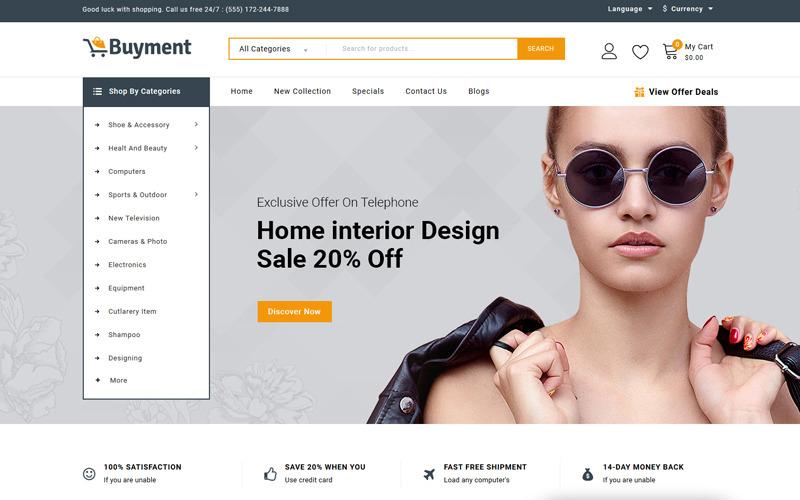 Buyment - Mega Store OpenCart-sjabloon