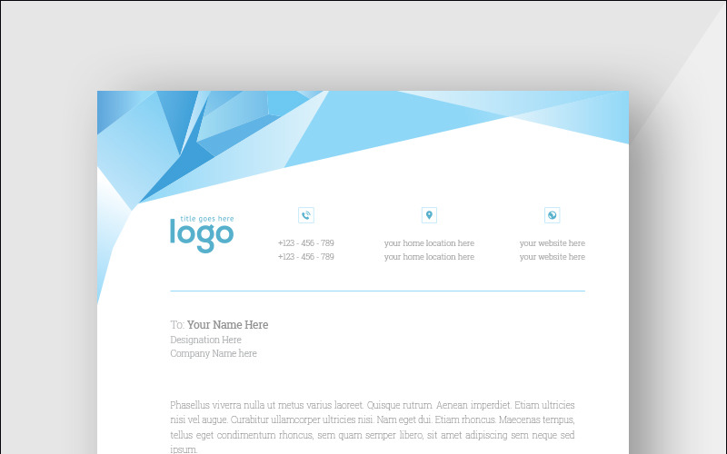 Abstract Letterhead - Corporate Identity Template