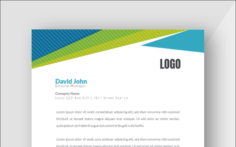 Blue & Green Color - Corporate Identity Template