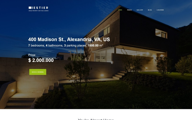 Iestier - Plantilla Joomla moderna inmobiliaria