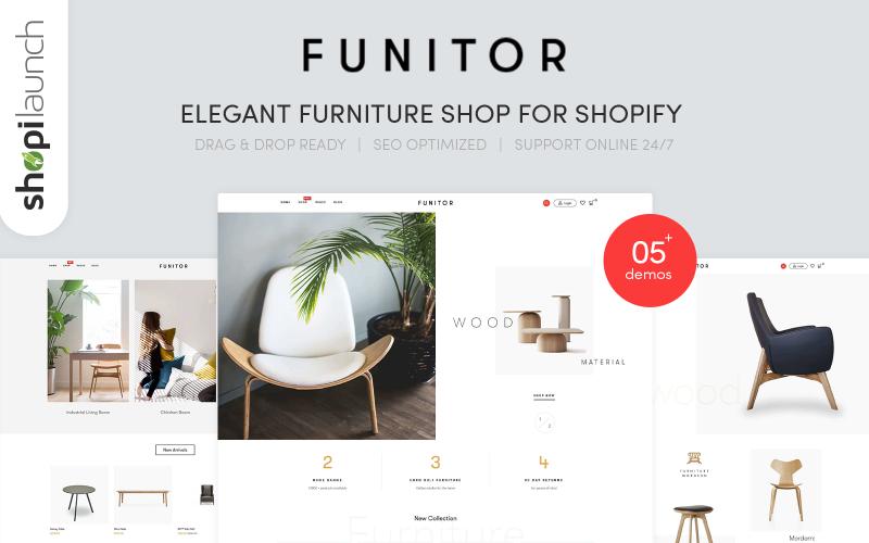 Funitor-Shopify主题的典雅家具店