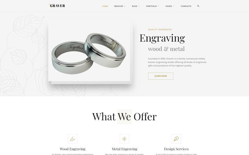 Graver - Art Multipage Elegant HTML Website Template