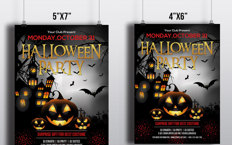 Halloween Party Flyer - Corporate Identity Template
