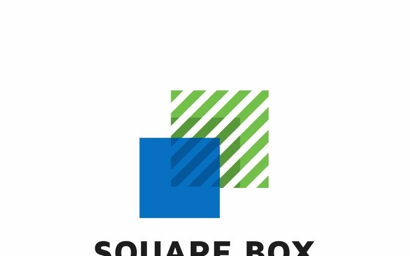 Modello di logo di scatola quadrata investire