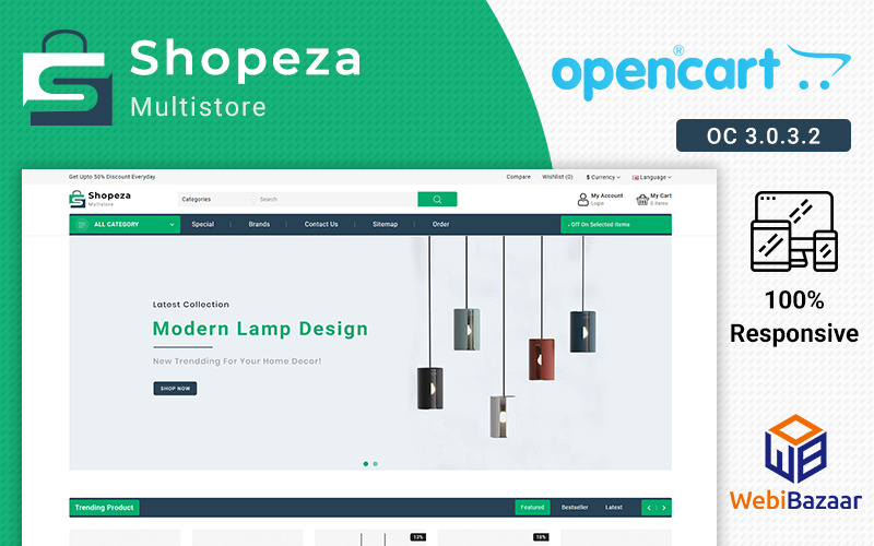Shopeza Best ELectronic Theme Szablon OpenCart