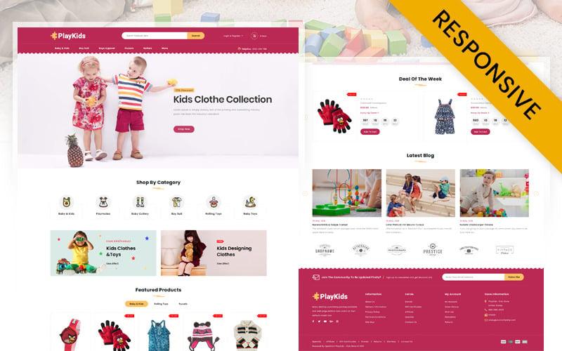 Playkids - šablona dětského obchodu OpenCart