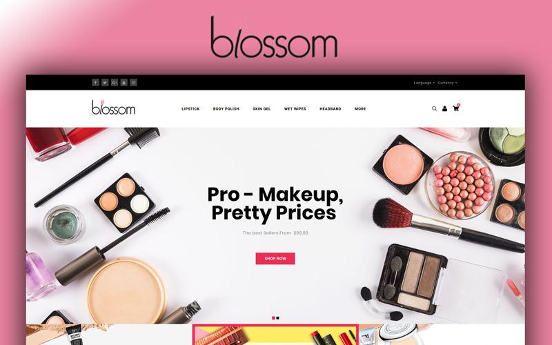 Blossom - OpenCart шаблон магазина красоты