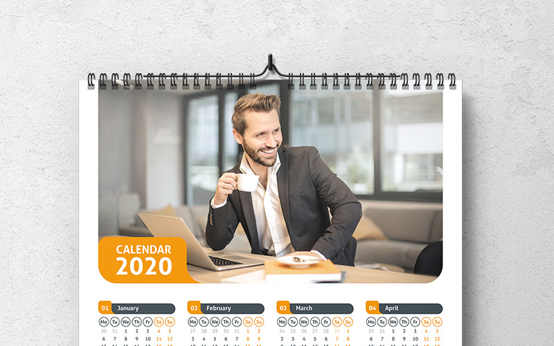 Calendar 2020 With 3 Color Styles Planner